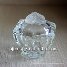 Jarra de cristal bela caixa de jóias de cristal para decoração ou presente