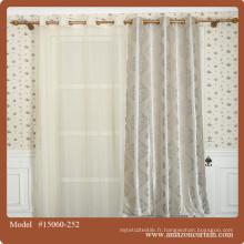 Blackout Polyester Style tissu textile Dubaï Quincaillerie de décoration d'intérieur rideaux de fenêtre Tissu jacquard noir