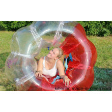 Red and Clear Bumper Ball Bubble Soccer Body Zorbing