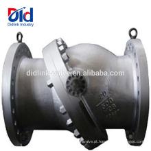Bomba de Água de Cartucho de Produtos Químicos de Aço Inoxidável Balanço Api6d Tiltling Disco Válvula de Verificação Princípio de Funcionamento