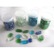 decorative glass shapes, glass nuggets,glass pebble mosaic
