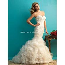 Neues Ankunfts-Schatz-Brautkleid Embroidary Rüsche-Hochzeits-Kleid