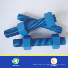 193 B7 stud bolt PTFE finshed stud bolt All sizes stud bolt