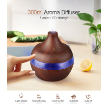 Air Purifier Wooden Wood Oil Aroma Diffuser 300ml
