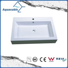 Rectangular Single Lever Polymerble Vanity Tops Acb0812