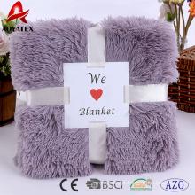 padrão de moda pv longa pilha falso fur throw micromink blanket