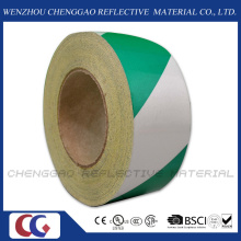 Green and White Stripe Design Reflective Marking Adhesive Tape (C1300-S)