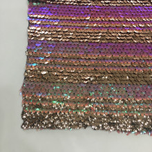 Rainbow Custom-made Sequin Embroidery On Poly Spandex Fabric