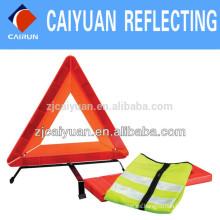 CY advertencia triángulo reflectante Chaleco Reflector personalizado