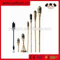 torches tiki en bambou pour l'éclairage de jardin