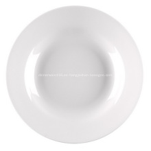 Plato de sopa de porcelana las de 9 pulgadas, 23 cm