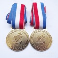 Antique brass zinc alloy sports medal of honor