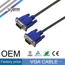 SIPU haute qualité db15 mâle à mâle vga câble 3 + 6 pour la télévision en gros vga Moniteur câble marque meilleur câble vga prix fabriqué en Chine