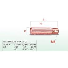 M6 25.5mm punta de contacto mini antorcha de soldadura
