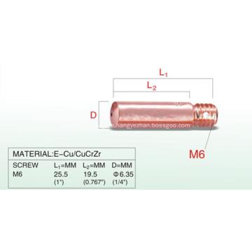 M6 25,5 mm Mini-Schweißbrenner mit Kontaktspitze