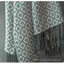 Manta suave sofá de lana Merino