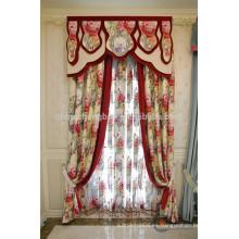 Confeccionado a medida cortina de valencia de fantasía con patrones de flores