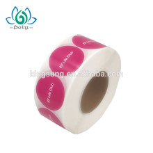 Günstige Roll Logo Druck Stanzschnitt Private Kundenspezifische Gedruckte Papierkleber Verpackung Etikettenaufkleber