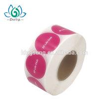 Cheap Roll Logo Printing Die Cut Personalizado Personalizado Papel Adhesivo Empaquetado Etiqueta Pegatinas