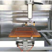 Máquina automática de pulverización de madera