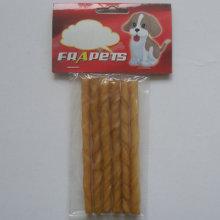 "Dog Chew of 5""/6-8mm Smoked Pork Hide Twist Stick for Dog"