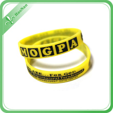 Promotion Gift Rubber Bracelet Silicone Wristband with Color Filled
