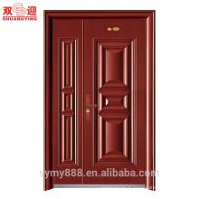 La porte principale rouge de porte de feuille de bronze d'acier inoxydable conçoit le travail d'entrée de données à la maison