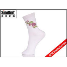 Popular Frilly Cotton White Women Casual Socks Graceful Lad