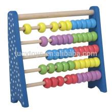 Деревянная шайба из бусин из радуги с низкой ценой и высоким качеством для детей