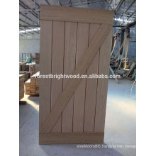 Oak veneered Z barn door