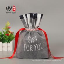 Poche de cadeau de vente chaude moins cher sac de cordon non tissé