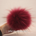 Jiaxing Accessores Genuine Fur Ball Red Wine Raccoon Pom Poms