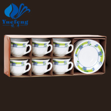 Ensemble tasse à café-verrerie opale résistant à la chaleur