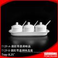 diseño especial real elegante cerámica sal y pimentero