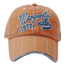 Heavy Washed Embroidery Sandwich Cotton Twill Baseball Sport Cap (TMB0343)