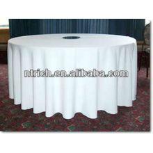 Pano de tabela do poliéster visto branco gracioso para banquete