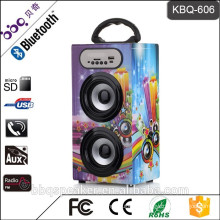 Popular portable digital bluetooth speaker with led ligh for South America market