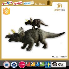 2015 artigos promocionais brinquedo de borracha dinossauro brinquedos de plástico dinossauro triceratops
