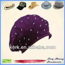 LSC29 Moda Girl 100% neve bonés promocionais chapéu de inverno Chapéu de algodão