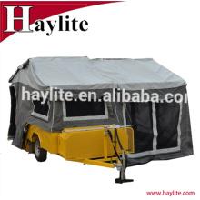 Reboque de campista de piso duro de alta qualidade com tenda