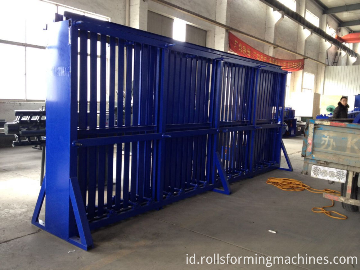 material storage for tube roll forming machine