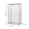 Galvanized Welded Gabion Fence Welded Basket Guardrail