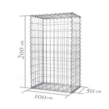 Оцинкованная сварная клетка Gabion Gabion Box Cage