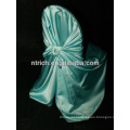 cheap and fancy satin self-tied chair cover/decorative satin back-tied chair cover for wedding banquet hotel