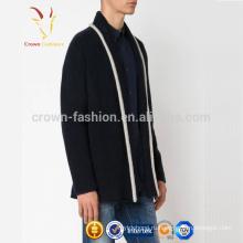 Последние дизайн мода мужская кашемир длинный вязаный кардиган