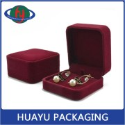 Wine Red Velvet Jewelry Boxes