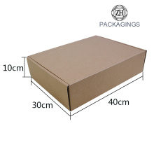 Empty coats packaging box in stock