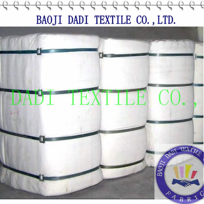 white bleached textile