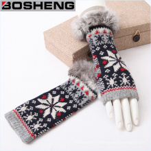 Winter Warm Half Lady Knitting Glove with Fleece