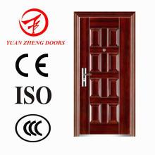 China fabricante Color madera puerta de hierro económica